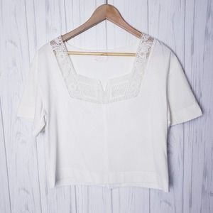 SeeByChloe Cotton Small White Short Sleeved Top